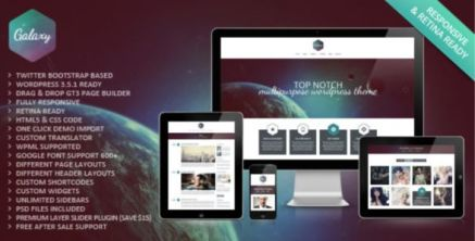 Galaxy Responsive Portfolio WordPress Theme